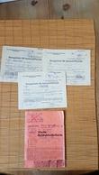 Vierte Reichskleiderkarte + 3 Bezugsscheine Für Spinnstoffwaren,  Braunschweig 1944 - Dokumente