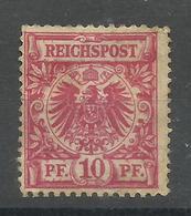 """Deutsches Reich 47 """"10 Pfg.-Briefmarke Aus Krone/Adlersatz, (Farbe Unbestimmt)  """" Ungebraucht  Mi.: 6,00 € - Ungebraucht"""
