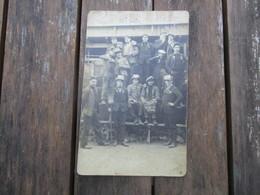 CPA PHOTO CLASSE 1927 CONSCRITS HOMMES - Fotografie