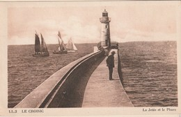 Carte Postale Ancienne - Le Croisic - La Jetée Du Phare - Barche