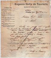 VP15.551 - Lettre Commerciale - Agencias Eugenio HELLY De TAURIERS à VITORIA ( Espagne ) Pour REVEL ( France ) - Espagne
