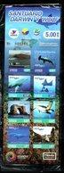 ECUADOR, 2017, FISH, WHALE, TURTLE, BOOKLET, MNH** - Marine Life
