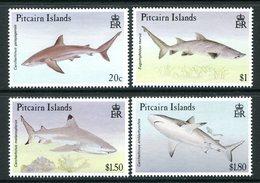 Pitcairn Islands 1992 Sharks Set LHM (SG 414-417) - Briefmarken