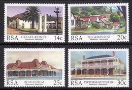 SOUTH AFRICA - 1986 HISTORIC BUILDINGS RESTORATION SET (4V) FINE MOUNTED MINT MM * SG 600-603 - South Africa (1961-...)