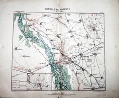 CARTE HISTORIQUE MILITAIRE - 2éme EMPIRE - BATAILLE DE MAGENTA  Le 4 JUIN 1859 - Cartes