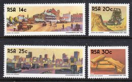 SOUTH AFRICA - 1986 JOHANNESBURG ANNIVERSARY SET (4V) FINE MOUNTED MINT MM * SG 604-607 - South Africa (1961-...)
