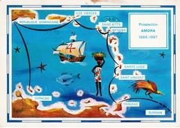 Dear Doctor Biomarine Ou Assimilée - Type Amora - Curaçao (map) - Werbepostkarten
