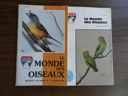 Le Monde Des Oiseaux. N°5/1980, 1/1990, 3, 8 Et 9/1990, 6/1991 - Animales