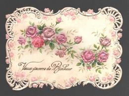 Fantaisie / Fantasy / Fantasie - Voeux Sincères De Bonheur - Heavily Embossed / Relief / Reliëf - Roses - Noces