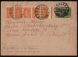 Russia / Sowjetunion 1930 - Mi-Nr. 365 & 389 - Brief - Moskau Nach Berlin - 1917-1923 Republic & Soviet Republic