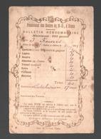 Bulletin Hebdomadaire 1895 - Pensionnat Des Soeurs De N.-D. à Dison - Maximum Des Points - Diplômes & Bulletins Scolaires