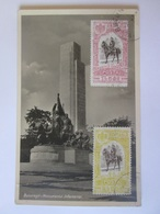 Rare! Romania-Bucuresti Infantry Monument,1947 Photo Maxicard With Rare Stamps - Romania