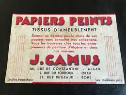 Buvard J. CAMUS Papiers Peints Tissus D'Ameublement - ALGER ORAN BONE - Wash & Clean