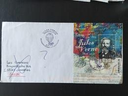 Jules Verne 2018 Bloc Saint Pierre Et Miquelon Ballon - Célébrités