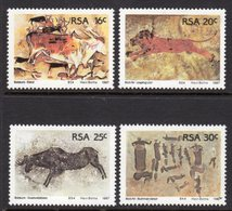 SOUTH AFRICA - 1987 ROCK PAINTINGS SET (4V) FINE MOUNTED MINT MM * SG 616-619 - South Africa (1961-...)