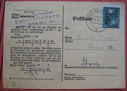 8510 Stainz - Drucksachenkarte 1947 / Landschaft / Steirische Landesbahnen Bahnhofsleitung Stainz - Marcofilie - EMA (Print Machine)
