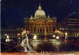 Citta Del Vaticano - Basilica Di S.pietro Di Notte - Formato Grande Viaggiata – E 13 - Vaticano