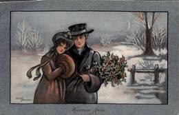 M M  Vienne (couple Colorisée Gui Etheld Parkinson 1920) - Vienne