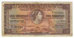 Bermuda  5 Shillings ,1952. VF. - Bermuda