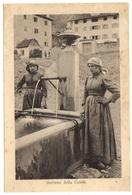 CARNIA - Femmes à La Fontaine - Costume De Carnie - Costume Della Carnia - Udine
