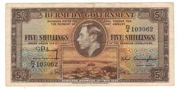 Bermuda  5 Shillings ,1937. VF+. - Bermuda