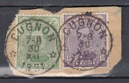 137+139 Gestempeld Cugnon (Sterstempel) - 1915-1920 Albert I