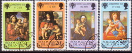 SOLOMON ISLANDS 1979 SG #404-08 Compl.set+m/s Used Christmas, Int.Year Of The Child - Salomon (Iles 1978-...)