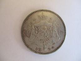 Belgique: 20 Francs 1934 - 1909-1934: Albert I.