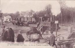 Cpa 67 MONTENDRE LA GARE DU TRAMWAY ECONOMIQUE 1922 - Gares - Avec Trains