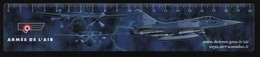 ARMEE DE L AIR * AVIATION - MILITARIA - AVION - MIRAGE 2000 * - MARQUE PAGE PLASTIFIE - Marque-Pages