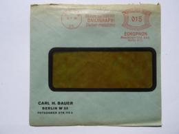 """1930 DR Brief Echophon Maschinen AG Berlin, Freistempel """"Diktiere Auf Stahl Mit Dailygraph-Diktier-Maschine"""" - Briefe U. Dokumente"""