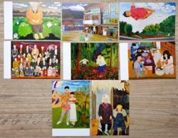 8 Japanische Künstler-Postkarten, Unbenutzt. Motive Aus Dem Familienleben. - Sonstige