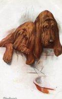 UNITED KINGDOM - BLOODHOUNDS - Dogs Artcard - Hunde