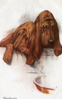 UNITED KINGDOM - BLOODHOUNDS - Dogs Artcard - Cani