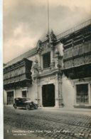 PERU - Cancilleria-Casa Torre Tagle - LIMA. VG Old Vehicle Etc RPPC - Peru