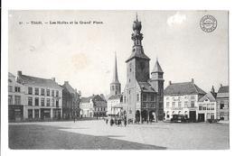 Thielt Tielt Les Halles Et La Grand Place Collection Bertels  1911 Cachet Roulers Roeselare - Tielt