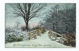 Christmas Postcard All Christmas Joys Be Yours Posting 1907 - Santa Claus