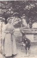 Cpa 202 UNE LAITIERE ET SA CHEVRE 1902 - Artisanat