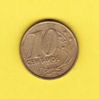 BRAZIL  10 CENTAVOS 1998 (KM # 649.2) #5380 - Brazil