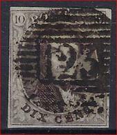 Nr. 10 Of 10A Met MOOIE Afstempeling P123 Van VERVIERS In Zéér Goede Staat Met 4 Mooie Randen , Zie Ook Scan ! - 1851-1857 Médaillons (6/8)