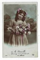 CPA 76 - Fillette - Fleurs - La Bouille - Souvenirs - Amitiés - Scènes & Paysages
