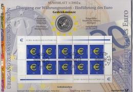 Bund Numisblatt 2002-1 Einführung Des Euro 10,00 Euro - Sonstige