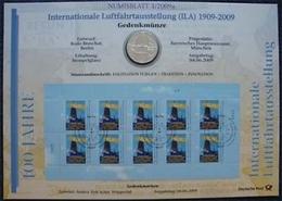 Bund Numisblatt 2009-3 Luftfahrtausstellung 10,00 Euro - [ 7] 1949-…: BRD