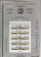 Bund Numisblatt 2009-4 Uni Leipzig 10,00 Euro - [ 7] 1949-…: BRD