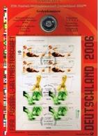 Bund Numisblatt Fußball-WM 2004 10,00 Euro - [ 7] 1949-…: BRD