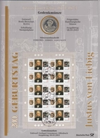Bund Numisblatt 2003-2 Justus Von Liebig 10,00 Euro - [ 7] 1949-…: BRD