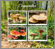 SAO TOME 2019 MNH Mushrooms Pilze Champignons M/S - OFFICIAL ISSUE - DH1934 - Funghi