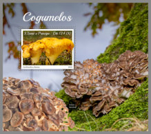 SAO TOME 2019 MNH Mushrooms Pilze Champignons S/S - OFFICIAL ISSUE - DH1934 - Funghi