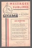 Message Sublimes - Collection Nationale Civisme - Résistance à Liège - 13 Histoires Sur Des Fusillés - 1952 - Guerre 1939-45
