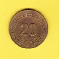 ALGERIA  20 CENTIMES 1975 (KM # 107.1) #5383 - Algerije